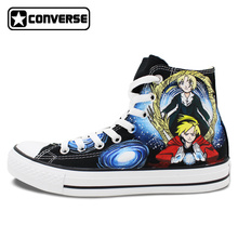 Fullmetal Alchemist Anime Shoes Men Women Canvas Sneakers Converse Chuck Taylor Brand Skateboarding Shoe Athletic Style