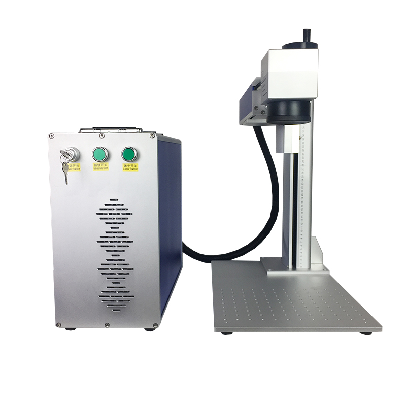 Mini 30w Fiber Laser Marking Machine Raycus Source Metal Laser Engraver For Gold Silver Jewelry Watches Bird Leg Bands