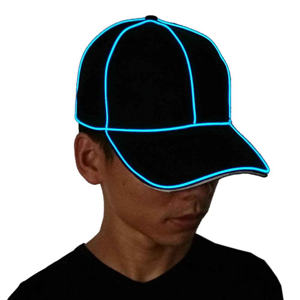 82859477cef Cool EL Wire Cap Neon LED Light Hats Glow Costume Party Luminous Cap  Fluorescent DJ BAR Dance Performances Carnival Party Props-in Party Hats  from Home ...