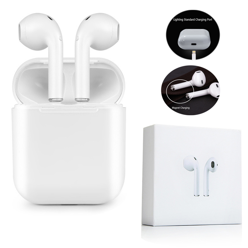 DoubleX Mini IFANS I9S TWS Airpod Wireless Bluetooth Earphone Earbuds With Mic Not Airpod For Iphone7,8,X Samsung Android xiaomi ifans ifans101 white