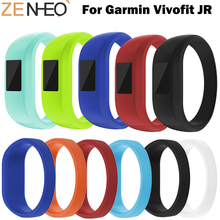 все цены на Soft Wrist Bracelet Band Strap For Garmin VivoFit JR/JR2 Watchband Sport Silicone Replacemet Wristband For Garmin VivoFit JR онлайн