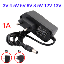 5V Power Supply Adapter Charger Universal US EU Plug DC 3/4.5/5/6/8.5/12/13 V 1A For Led Strip Light Lamp