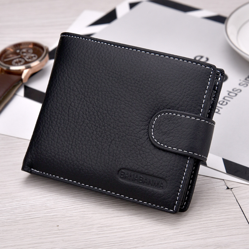 2018 New HOT genuine leather Men Wallets Brand High Quality Designer wallets with coin pocket purses gift for men card holder in Wallets from Luggage Bags