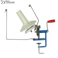 KiWarm New Large Metal Yarn Fiber String Ball Wool Winder Holder Winder Fiber Hand Operated Cable