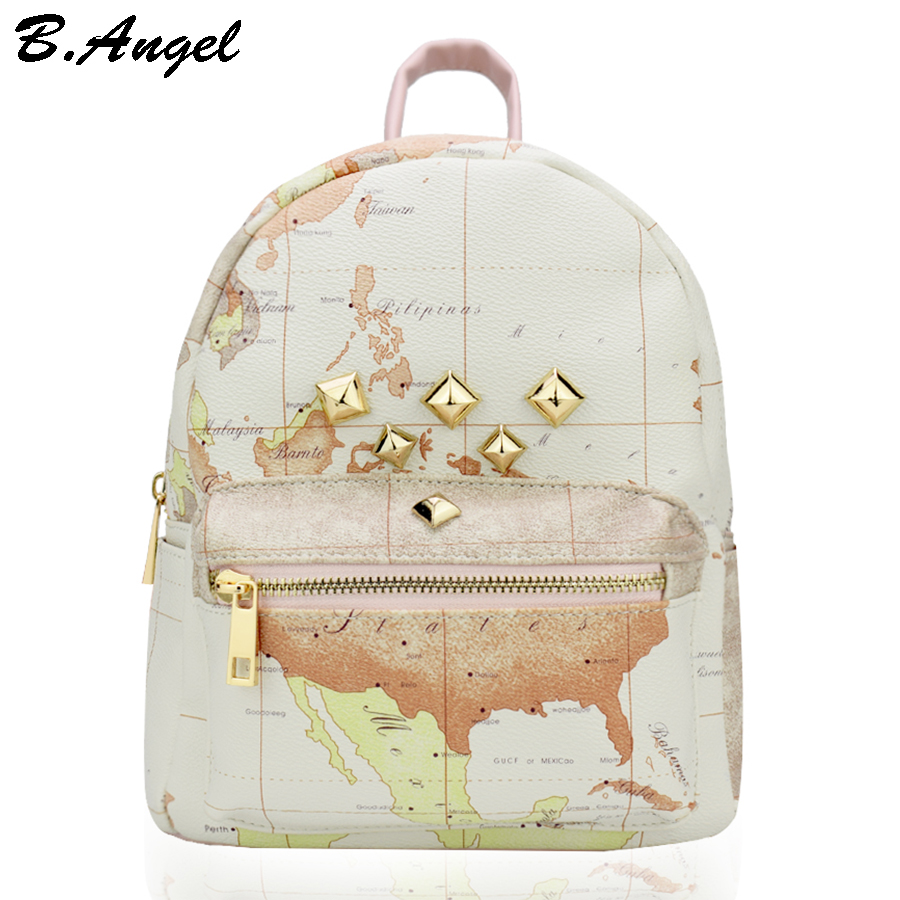 Aliexpress buy high quality unisex world map backpack rivet aliexpress buy high quality unisex world map backpack rivet women backpack leather backpack school backpack mochila travel backpack hc w 8098 from gumiabroncs Images