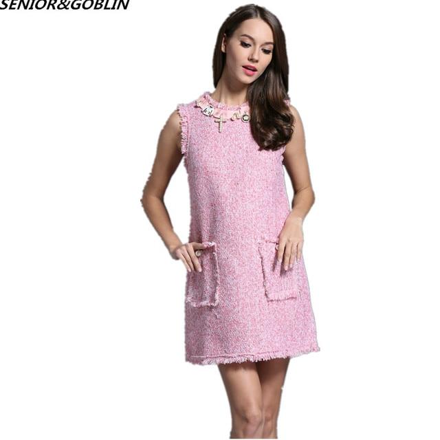Robe femme rose perle