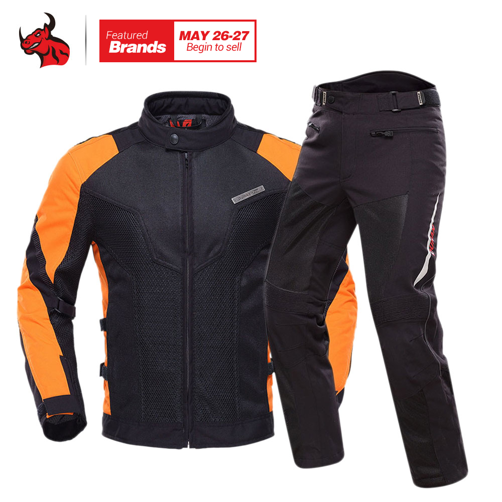 DUHAN Motorcycle Jacket Breathable Motocross Clothing Summer Moto Jacket Motorbike Jaqueta Motoqueiro With Five Protector