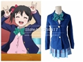 Free Shipping Japanese Anime Love Live Cosplay Costumes Halloween Party Lovelive School Uniforms Blazer+Skirt + 1 Piece Neck tie