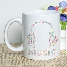 1f5a6771c Branco Caneca de Café Xícara De Cerâmica Sublimação Nota Musical Projeto  Composto 330 ml Clássico Impressão