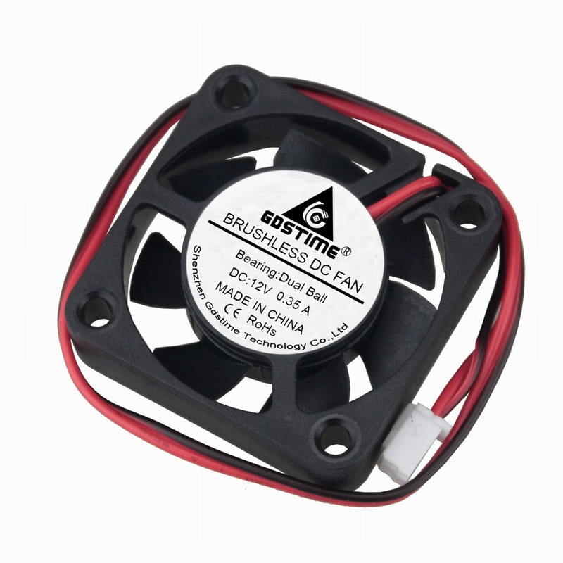 5 Pcs Gdstime 15000RPM 40x40x10mm DC 12V Ball Bearing Cooling Fan 40mm x 10mm 4cm RC Model PC Case Cooler 4010 0.35A цена