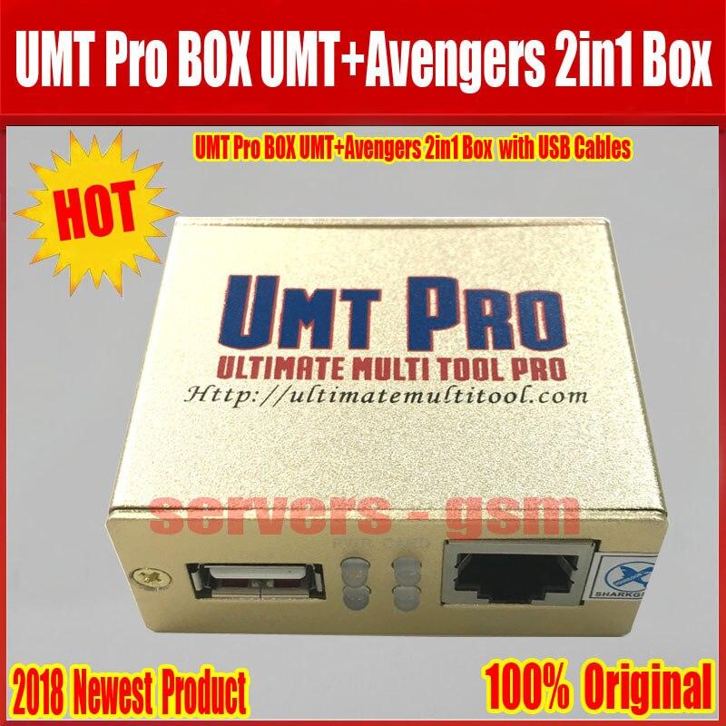 2019 Date 100% D'origine UMT Pro BOÎTE UMT + Avengers 2in1 Boîte avec 1 USB Câbles Livraison Gratuite