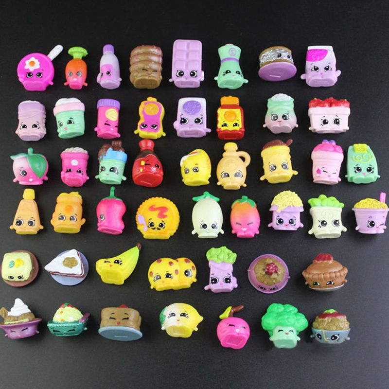 30/40/50/60Pcs Fruit Doll Shop Action Figures Toy For Family Kins Shopping Dolls Mixed Seasons Many Style Toys For New Year Gift
