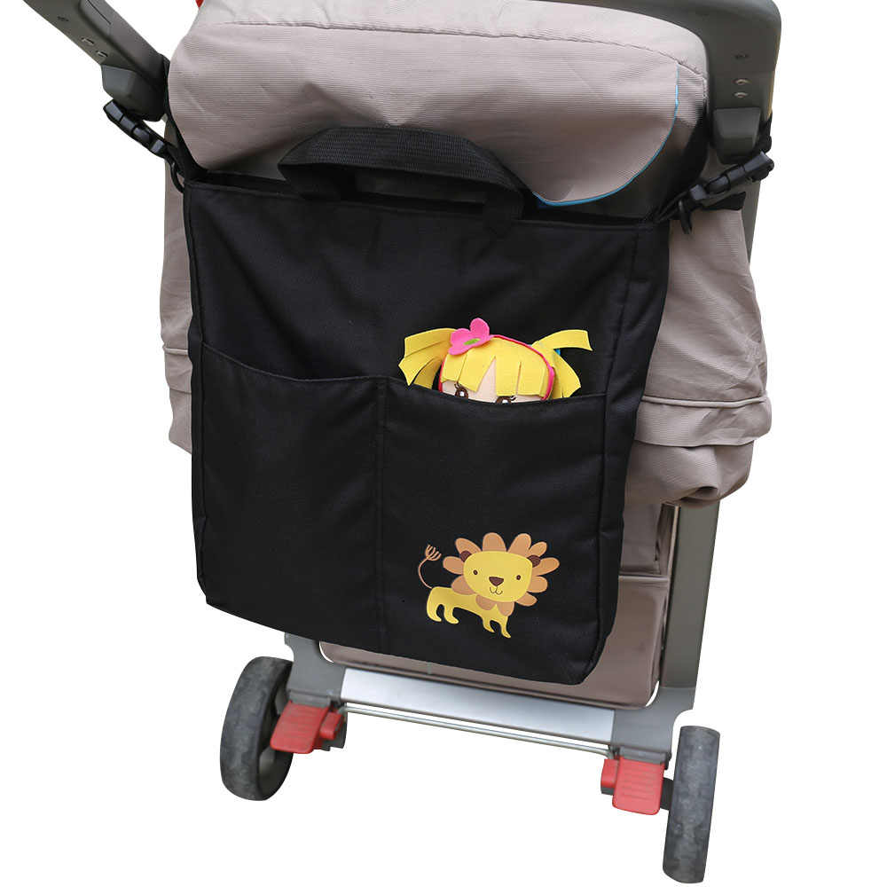Cartoon Baby Stroller Bag Large Capacity Carriage Bag Waterproof Nappy Organizer Hanging Bags For Prams Stroller Accessories