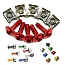 цена на For Ducati 1000SS 916 916SPS 996 998 999 B S R Diavel 5 pieces 6mm motorbike screwse body fairing