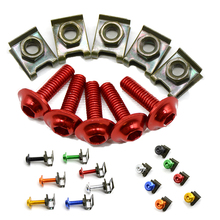 For KTM 200 250 390 690 990 Duke RC SMC/SMCR Enduro R 5 pieces 6mm motorbike screwse body fairing цена