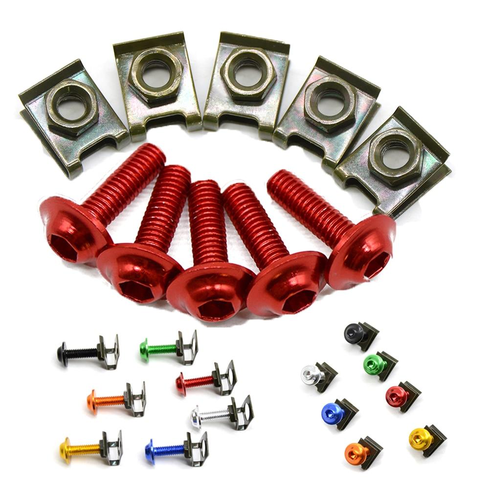 For Honda CBR600 CBR 600 F2 F3 F4 F4i CBR1000RR/SP 5 pieces 6mm motorbike screwse body fairing