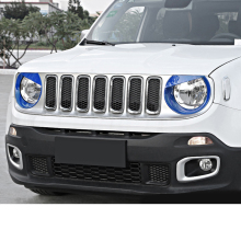 Lsrtw2017 Abs Car Headlight Circle Trims Stytling for Jeep Renegade