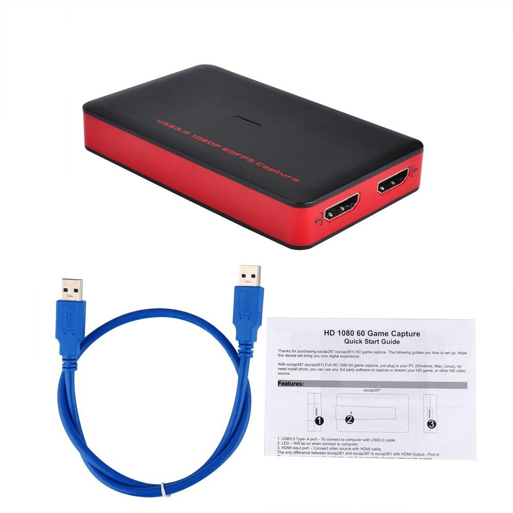 USB3.0 1080 p 60fps HDMI Carte de Capture Vidéo Enregistrement USB 3.0 Diffusion En Direct Streaming pour PS3 PS4 Caméscope Réunion Jeu TV box