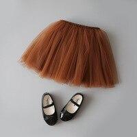 4Color Ballet Dance Baby Girls Skirts Lace Elastic Toddler Pettiskirt Infant Princess Tutu Skirt High Quality