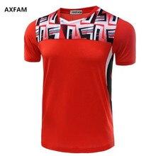 AXFAM Men Tennis Shirts Breathable Quick Dry V-neck Sports Athletic Shirt High-quality Badminton Table Tennis clothing NM5052
