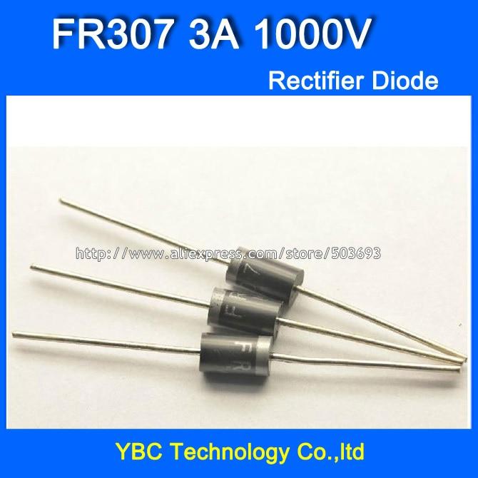 Fr307 Diodo recuperación rápida 3a 1000 V