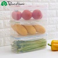 Butihome Home Storage Box Fashion Sealed Drainable Food Storage Box Kitchen Simple Transparent Storage Box