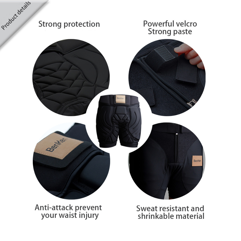 BenKen Ski Butt Pants Hip Protection Butt Guard for Skateboarding Skiing Riding Cycling Snowboarding Overland Racing Armor Pads 31
