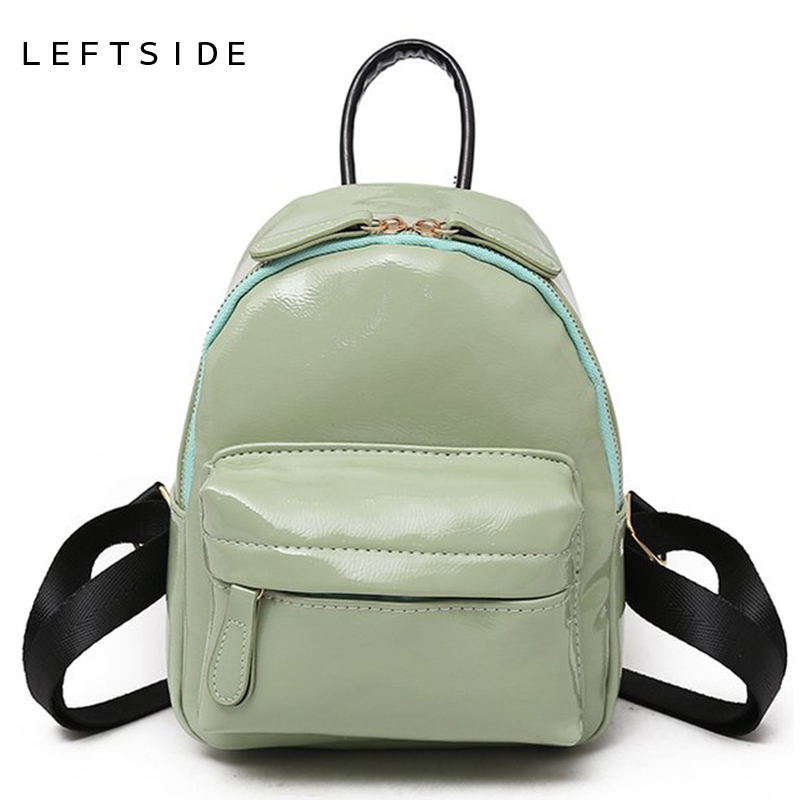 52e839ce7b LEFTSIDE 2018 Candy Color Girls Packbag Fashion Bags For Women Backpack  Patent Leather Mini Backpacks Cute Kids Back Pack Black-in Backpacks from  Luggage ...