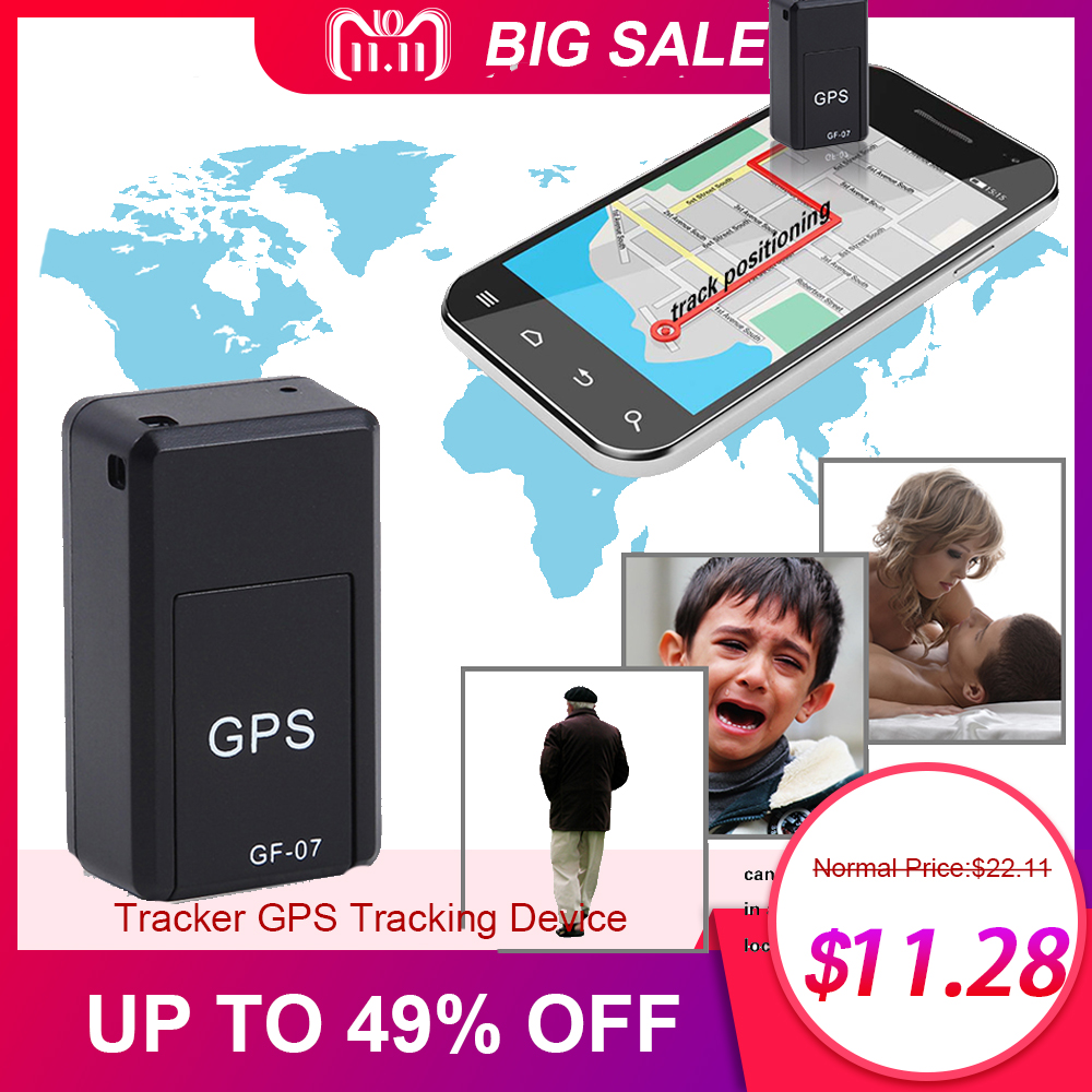 Mini Portable GSM/GPRS Tracker GF07 GPS Tracking Device Satellite Positioning Against Theft for Car Motorcycle Vehicle Person tx5 portable gsm gprs vehicle tracker for motorcycle electric bike black
