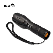 DaskFire Waterproof Zoomable XML-T6 LED Flashlight Outdoor Camping Light High Power Lantern Self-defense Camping LED Flashlight