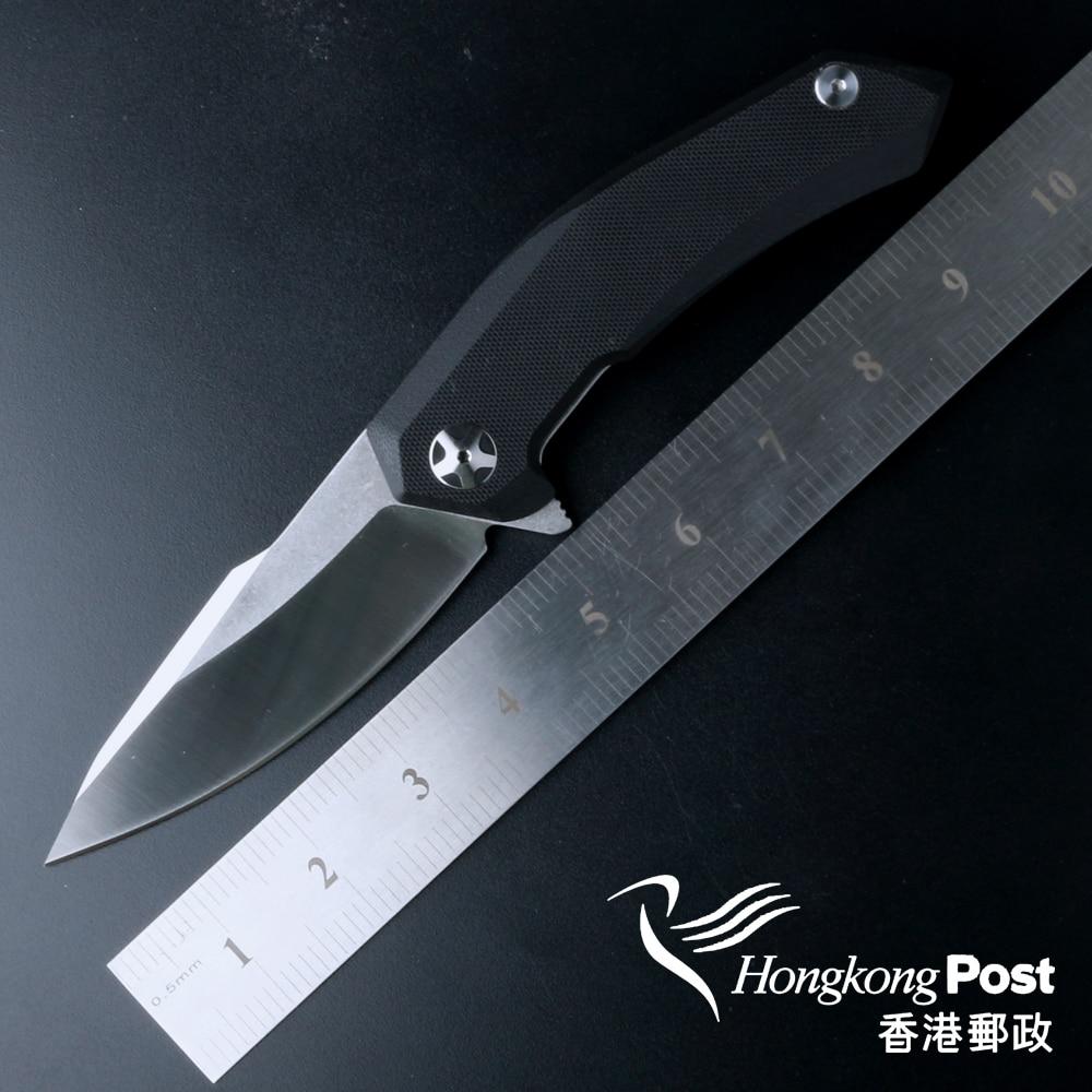 high quality ZT0095 Flipper font b folding b font font b knife b font 9Cr18MoV blade