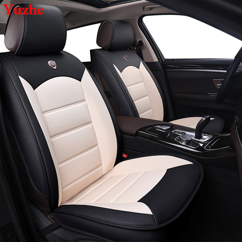 Yuzhe Auto automobiles Leather car seat cover For Hyundai ix35 tucson solaris creta i30 accent elantra car accessories styling vehicle car accessories auto car seat cover back protector for children kick mat mud clean bk