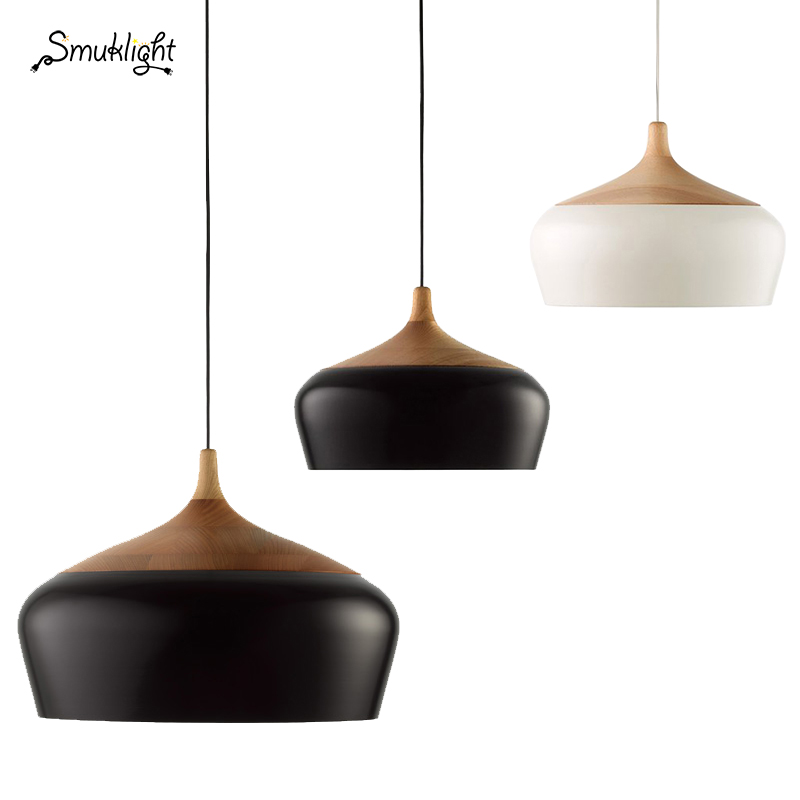 Minimalist Modern Pendant Lamps E27 Wood/Aluminum Lampshade Hanging/Pendant Lights 110V/220v for Art Fashion Decor Luminaire