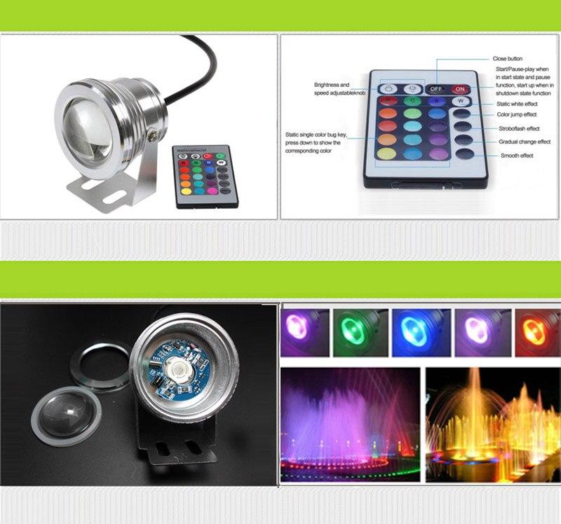 16 գույների 15W RGB 12V LED ստորջրյա շատրվան - Արտաքին լուսավորություն - Լուսանկար 2