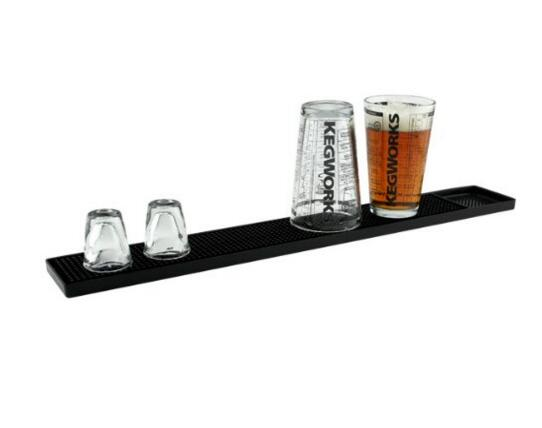 1Pcs 23inch Rectangle Rubber Beer Bar Service Spill Mat for table black waterproof pvc mat kitchen