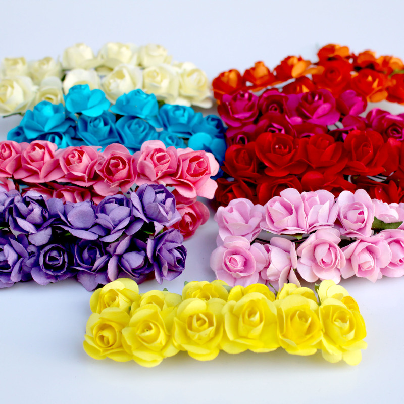 Elegant 1 Bouquet Artificial Flower Beads Berry Party Wedding Gift Box Decor Con