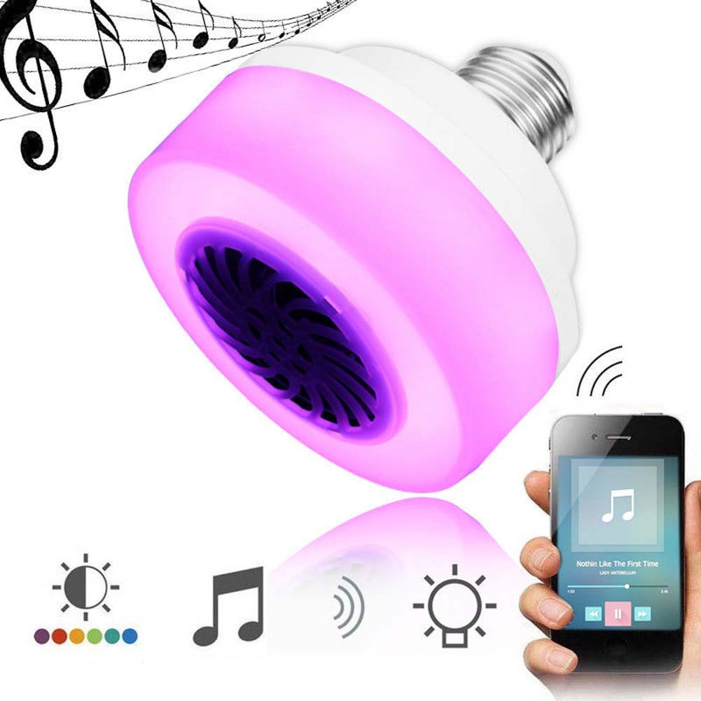 LED Wireless Bluetooth Speaker Lights Colorful Bulb Light Lamp Phone Control Play Music JD9 WWO66