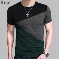 8 Designs Mens T Shirt Slim Fit Crew Neck T Shirt Men Short Sleeve Shirt Casual