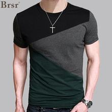 6 Designs Mens T Shirt Slim Fit Crew Neck T shirt Men Short Sleeve Shirt Casual