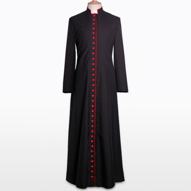 Cosplaydiy Custom Made Womens Cassock Robe Costume Jacket Coat Mens Medieval Cassock Robe Liturgical Vestments L320