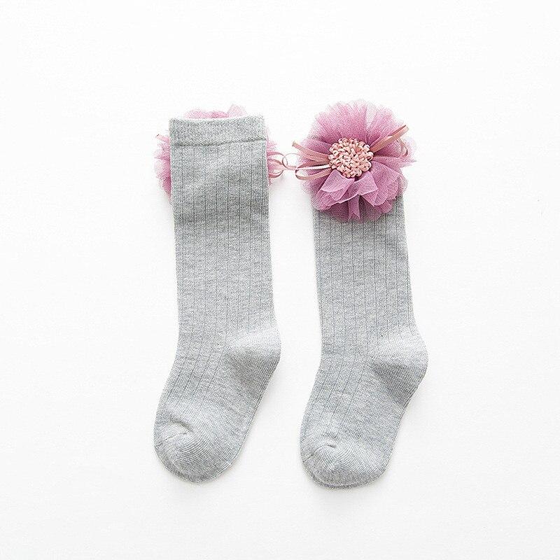 LAWADKA Cotton Kids Socks Princess Long Socks Girl Children's Knee High Socks Girl Socks Children Flowers Swans Style 1-8 Years 3