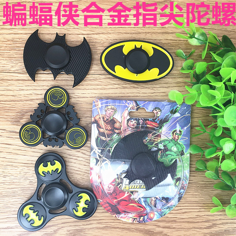 Batman Shapes Designs Metal Hand Spinners For ADHD Adult Decompression CE Approval Fidget Gyro Toys 30pcs