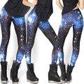 Leggings 2016  Legging Grey Star Dark Galaxy High Waist Women Pants Elasticity Jeggings Plus size yh01