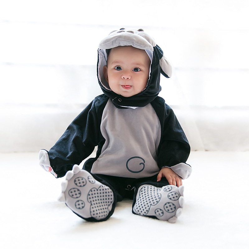 Cute Infant Romper Baby Boys Girls Jumpsuit  Bebe Cosplay Clothing Hooded Toddler Baby Clothes Oranguta Romper Baby Costumes