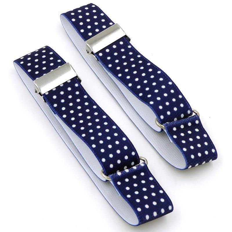 1 Pair Men Shirt Stay Garters Elastic Adjustable Shirt Holders Armbands Resistance Belt Suspenders