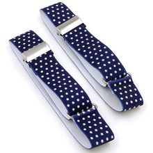 1 Pair Men Shirt Stay Garters Elastic Adjustable Holders Armbands Resistance Belt Suspenders