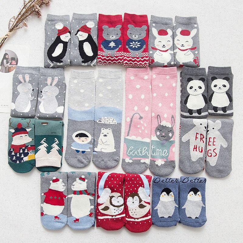 2019 New Cartoon Animal Paradise Women Thick Cute Funny Happy Art Christmas   Socks   High Quality Kawaii Female Spring Summer