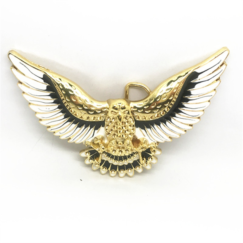 Wholesale High-quality Color Gold 3D Eagle Zinc Alloy Western Cowboy Belt Buckle