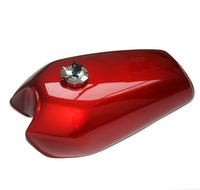 Universal Red 9L Gallon Motorcycle Cafe Racer Retro Fuel Gas Tank w/Tap+Key+Cap Switch For Honda CG125 CG125S CG250 New