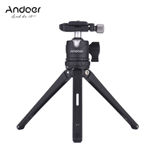 Andoer Table Mini Tripod w/ Ball Head Quick Release Plate for Canon Nikon Sony DSLR for GoPro Hero+ for Yi Lite 4K for iPhone X